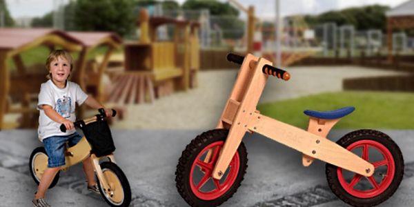 Dřevěné dvojkolové odrážedlo CRAZY WOOD pro děti 3-6 let za bezkonkurenčních 799 Kč! Na výběr ze 3 barevných provedeních! Sleva 43%!