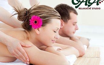 60minutová masáž pro dva s 50% slevou! Aromatická nebo masáž s lávovými kameny