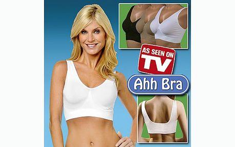 Podprsenka Ahh Bra nepotřebuje kostice, spony ani háčky a skvěle VYFORMUJE Vaši POSTAVU za jedinečnou cenu 179 Kč!