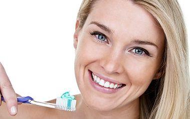 Ať Vám každý závidí Váš úsměv zářivý! 50% sleva na návštěvu dentální hygieny zahrnující vyšetření dásní, instruktáž správné péče o zuby, odstranění zubního kamene i pigmentu a vyleštění zubů.