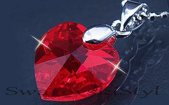 Fantastických 249 Kč za originální šperk s krystalem SWAROVSKI vyroben speciálně pro Vás na zakázku v luxusním dárkovém balení – originální krabiččce Swarovski Elements! Svátek zamilovaných se blíží, tak proč se na něj nepřipravit? Je již nejvyšší čas! Oslavte Valentýna tímto jedinečným spojením atraktivních prvků. Sleva 59 %!