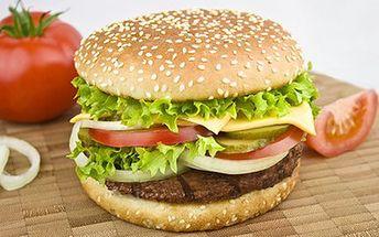 Dejte si 2 Cheesburgery! Ochutnejte výborné a svěží burgery. 50% sleva na 2x Cheesburger s čerstvou zeleninou, dresingem a hranolkami.