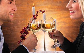 Oslavte Valentýna romantickou večeří! Láska prochází žaludkem. 50% sleva na výtečné TŘÍCHODOVÉ MENU pro 2 osoby.