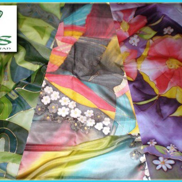 Ty nejkrásnější věci pocházejí z přírody. EXKLUZIVNÍ módní doplňky - ručně malované hedvábné šátky a šály, kabelky a tašky z lněného plátna již od 281 Kč včetně poštovného!