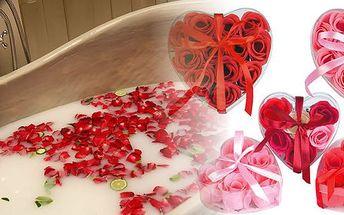 Překvapte partnera Valentýnskou koupelí plnou růží! Voňavé mýdlové růže za pouhých 99 Kč! Set 9 ks originálních růží do koupele, které navodí tu pravou romantickou atmosféru se slevou 50%!
