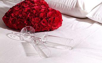 Polopenze, sauna a vířivka jsou pro Vás to pravé. Užijte si valentýnský pobyt pro zamilované! 54% sleva na valentýnský balíček pro 2 osoby s polopenzí, květinová výzdoba pokoje, sauna, láhev sektu na přivítanou i do vířivky.