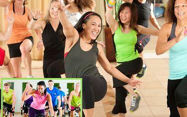 2 lekce fitness cvičení s 54% slevou! Spinning, zumba, pilates, jóga nebo power jóga jen za 130 korun!