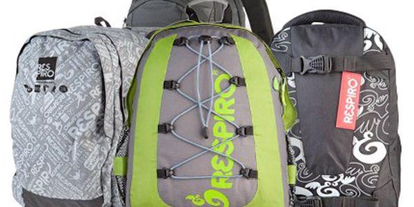Kupte si batoh Respiro, který určitě užijete. Jeho praktičnost a nosnost využijete. 50% sleva na batoh značky Respiro s propracovaným zádovým systémem v limitované edici, vyberte si ze 4 modelů.