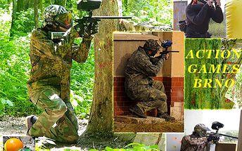 Paintball balíček BASIC 2 jen za 199 Kč! Zbraň s pohonem, maska,100 kuliček a čtyřhodinový vstup na hřiště v ceně!