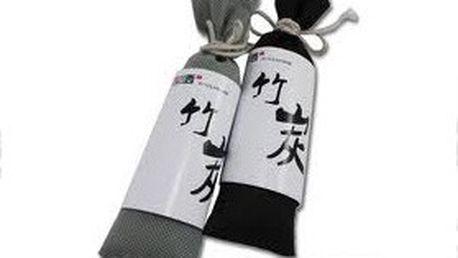 2 ks MINI pohlcovače zápachu ve stylovém hedvábném pytlíku s bambusovým uhlím. Svěží vůně pro vaši domácnost nebo kancelář