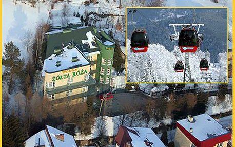 Přijďte lyžovat a relaxovat do polských Beskyd. 4 denní pobyt pro DVA se snídaní, masáží, saunou a kulečníkem 2690 Kč