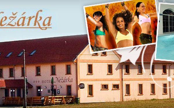 POHODOVÝ, NEBO FITNESS VÍKEND V JIŽNÍCH ČECHÁCH až s 66% slevou!! Příjemný hotel Nežárka uprostřed krásné přírody a malebných měst Jižních Čech!! V ceně bazén s protiproudem a fitness!! V rámci cvičebního víkendu aqua aerobic, zumba a movida!!