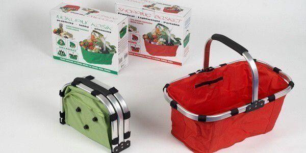 Praktický skládací nákupní košík, který kromě nákupů využijete také na piknik, na zahradu nebo na chatu! U PEPY za jedinečných 120 Kč!