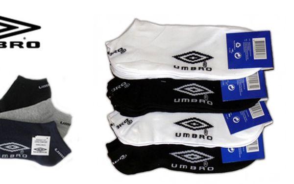 Tři páry značkových kontníkových ponožek UMBRO jen za 79 Kč! V nabídce dvě barevné varianty. Vyzvednutí osobně nebo možnost zaslat poštou.