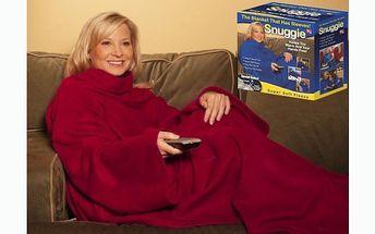 Snuggie deka s rukávy za 159 kč. Pohodlná, hřejivá, měkká deka s rukávy se slevou 54%