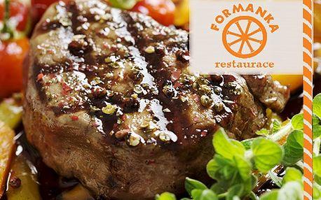 Hody pro 2! Steak, víno, salát, příloha s 50% slevou! Přijďte si pochutnat na šťavnatém masíčku, čerstvém salátku a lahodném víně!