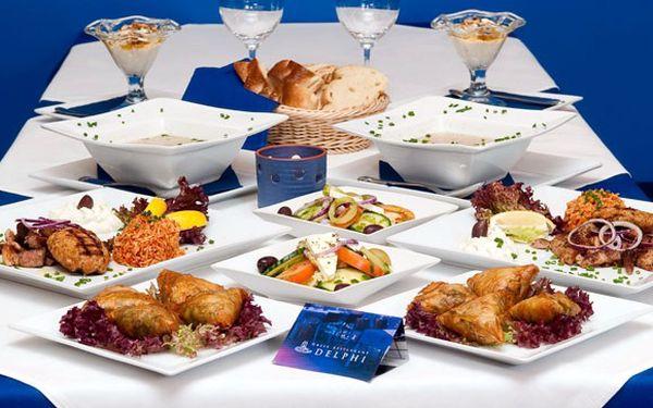 4CHODOVÉ ŘECKÉ MENU pro 2 osoby z originálních surovin, které vás nadchne svou CHUTÍ za 690 Kč! Taštičky se špenátem a sýrem, polévka na řecký způsob, biftek, gyros, tzatziki, salát a výborný řecký jogurt! TY NEJVĚTŠÍ LAHŮDKY V Restaurantu Delphi!
