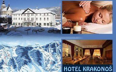 3denní horský pobyt pro dva s polopenzí! Užijte si čtyřchodové menu, masáž, saunu a malebnou krajinu Krkonoš!