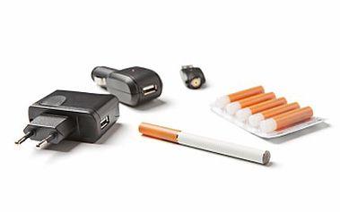 E-cigareta je zlomem v kouření. Zkuste nové zdravější řešení! 58% sleva na e-cigaretu+ balíček náplní- 10ks, adaptér, USB nabíječka a adaptér do auta- zapalovače.