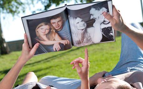 Potěšte přátele i rodinu, darujte jim FOTOKNIHU. 50% sleva na fotoknihu o velikosti A4, 40 stran fotek z dovolené, oslav a fotek s rodinou i přáteli, vytištěných na křídovém papíře.