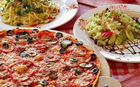 Dejte si pizzu, těstoviny jako z Itálie. Vyrazte do restaurace, kde to žije. 51% sleva na ITALSKÉ POCHOUTKY dle Vaší chuti, poukaz v hodnotě 100 Kč za jedinečných 49 Kč.