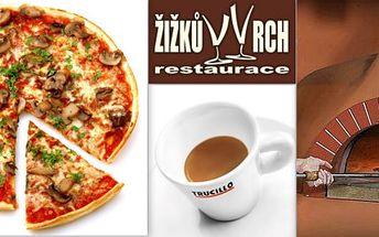 Dvě pizzy za cenu jedné v restauraci Žižkův Vrch