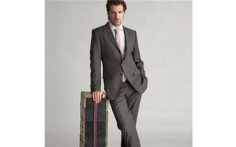 Chcete být elegantní a zároveň se cítit příjemně? Využijte SLEVU 50% na kvalitní pánský oblek třídílný.