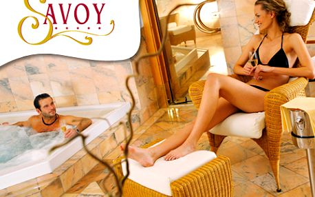 3hodinový wellness program. Masáž Karibic Dream pro DVA, jacuzzi, finská sauna, parní lázeň a fitness v luxusním Spa&Wellness hotelu Savoy*****!