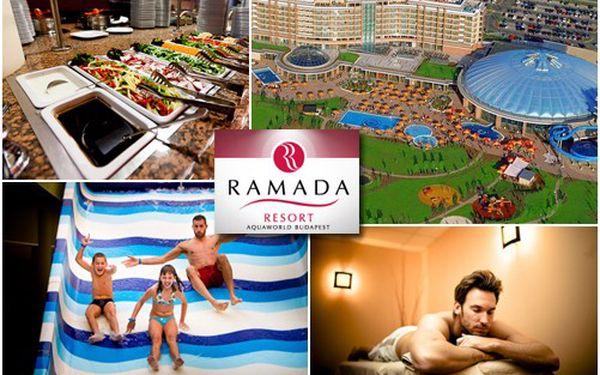 3denní pobyt pro 2 osoby v romantikou nabité Budapešti s ubytováním v luxusním HOTELU RAMADA**** se snídaní a 51% slevou na vstup do AQUAPARKU jen za 3 999 Kč!