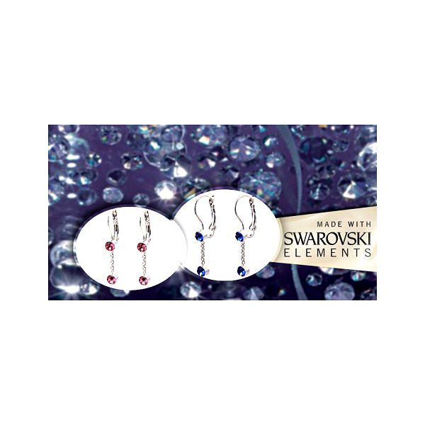 Náušnice se Swarovski kamínky jako krásný valentýnský dárek se slevou 50% za jedinečných 193 Kč včetně poštovného a dárkové krabičky!