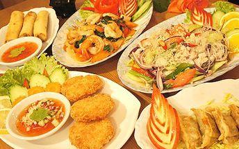 Vyzkoušejte ve dvou taje Thajské kuchyně. Jedině v Bangkoku se najíte lahodně. 3-chodové Thai menu pro 2 v restauraci The Bangkok s 52% slevou.