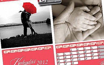 Kalendář z vašich fotek! Potěšte svou drahou polovičku A3 kalendářem z vašich fotografií se slevou!