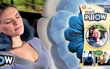 Zdravotní ergonomicky tvarovatelný polštářek TOTAL PILLOW - pro relaxaci, uvolnění krční páteře, sezení proti prochladnutí a mnoho dalších funkcí pro každodenní využití!