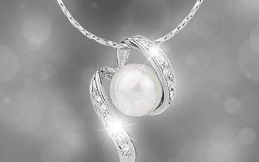Nedělejte si už s dárkem starosti! Věnujte své milé k Valentýnu přívěšek s perlou a krystalky Swarovski. Přívěšek perla s řetízkem + dárek ZDARMA náušnice Swarovski.