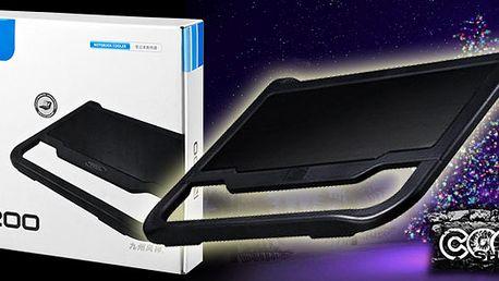 Super nabídka a nápad na dáreček pro všechny! Luxusní chladič pro každý notebook s extra velkým větrákem, USB portem a podsvícením! Kombinace kovu s plastem a ochranou větráku!