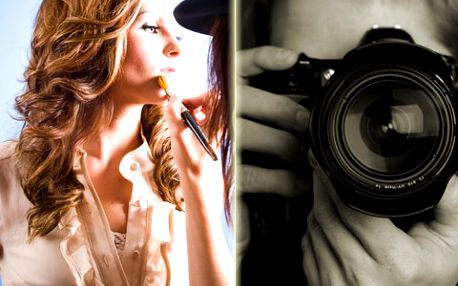 Focení včetně líčení s vizážistkou. 55 fotek s retuší nebo v plné kvalitě