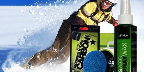 Vosk na lyže i snowboard značky Demon – pevný vosk, vosk ve spreji, nebo vosk v pastě