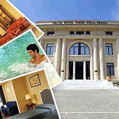 6 dní pro dva v Grand Hotelu**** v Itálii – snídaně, 6× vstup do Wellness ráje na 2,5 hodiny (sauna, 2 velké termální bazény s podvodní masáží a vodopádem...). Neomezený vstup do Technogym fitness centra