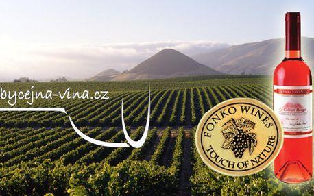 Exkluzivní víno Fonko Cabernet Sauvignon rose 2008! Darujte k Valentýnu jedinečný dárek v podobě luxusního vína!