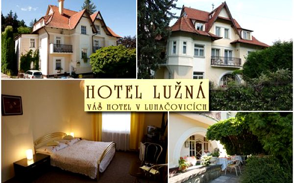 Fantastických 1920 Kč za 3 dny (2 noci) pro 2 osoby na pobyt v hotelu LUŽNÁ V LUHAČOVICÍCH! Klidný, rodinný hotel v centru lázeňského města! Přijeďte si k nám odpočinout!