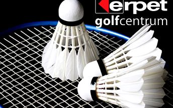 Hodina badmintonu v Erpet Golf Centru– profesionální služby, špičkové zázemí. Lze spojit s návštěvou restaurace či využít nabídky dalších sportů!