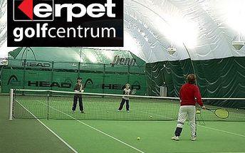 Hodina tenisu v Erpet Golf Centru – kvalitní služby, moderní zázemí. Lze spojit s návštěvou restaurace či využít široké nabídky dalších sportů.