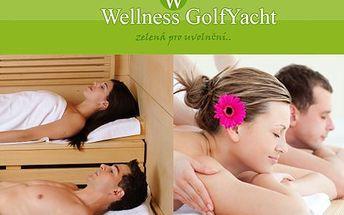 Sauna a masáž pro DVA! Užijte si soukromou saunu a masáž ve 120 minutách v luxusním prostředí wellness GolfYacht!