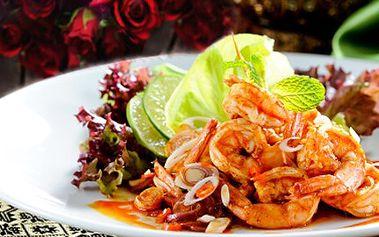 Oslavte Valentýna kuchyní THAJSKOU! Vybrané speciality připravené s láskou! 50% sleva na menu pro 2 osoby s příchutí Thajska. Čeká Vás delikátní předkrm, polévka, hlavní chody i desert.