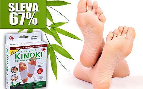 10 ks detoxikačních náplastí Kinoki jen za 49 Kč!