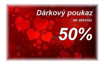 Valentýnský dárkový poukaz na kosmetické služby dle vlastního výběru s valentýnskou slevou 50% !