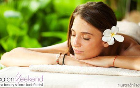 Thajská olejová masáž Queen´s park a aroma masáž dle vašeho výběru v luxusním Spa beauty salonu Weekend. Užijte si společně masáže a láhev sektu v romantickém prostředí! Nebo si dopřejte thajskou masáž sami v dvojnásobné délce!
