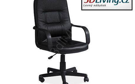 Pohodlné kancelářské křeslo! Uvelebte se na koženém křesle s opěrátky pro ruce a výškově nastavitelným mechanismem!