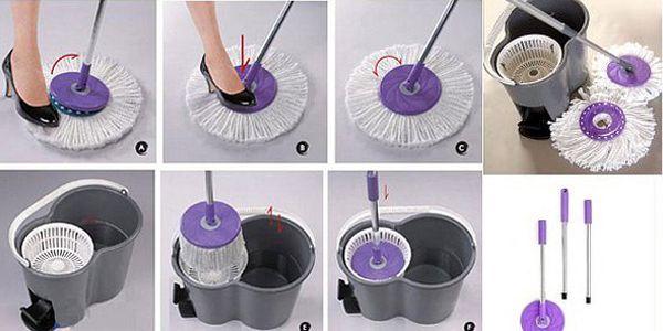 BRNO - 450 Kč za kvalitní rotační mop - mytí podlahy nebylo nikdy jednodušší! Perfektní pomocník do domácnosti se slevou 54 %!