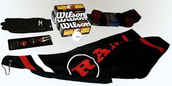 Balíček 4 golfových doplňků od světových výrobců jen za 599 Kč. Mizuno X-Flex rukavice pánská ( či 2 páry dámských ponožek Glenmuir), Wilson Ultra míčky 12 ks, Nike Red Victory vypichovátko s markovátkem, golfový ručník RAM, to vše se slevou 43%. Pozor limitovaná nabídka.